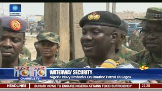 Water Security: Nigeria Navy Embarks On Routine Patrol In Lagos