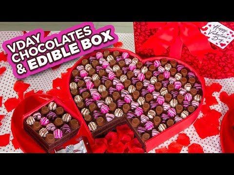 Easy Valentine&39;s Chocolates and EDIBLE BOX  How To Cake It