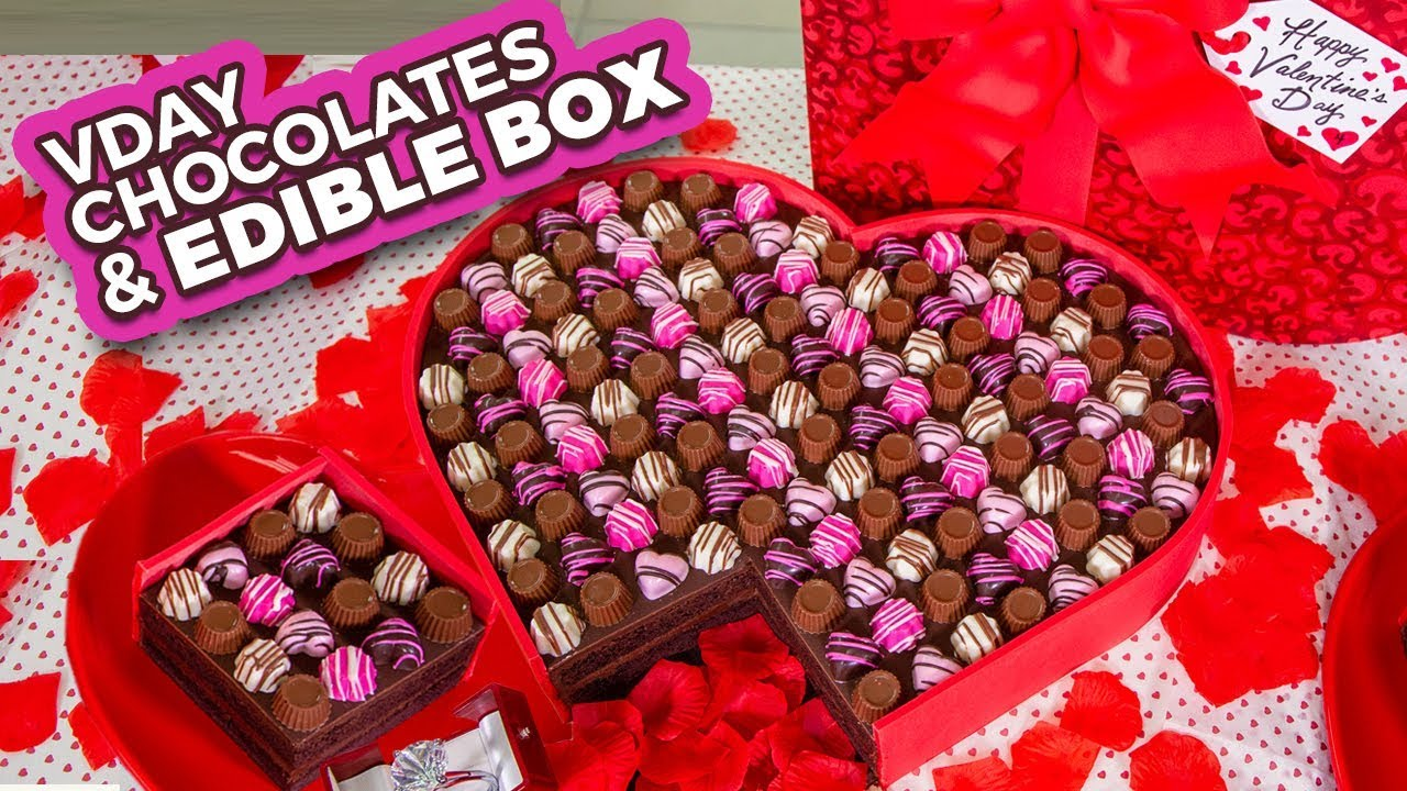 Easy Valentine's Chocolates and EDIBLE BOX! | How To Cake It