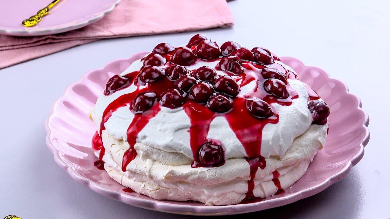 紐澳國民甜點:櫻桃帕芙洛娃 - YouTube