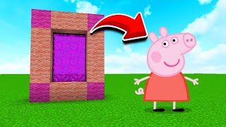 How To Make a Portal to the Peppa Pig Dimension in MCPE (Minecraft PE)