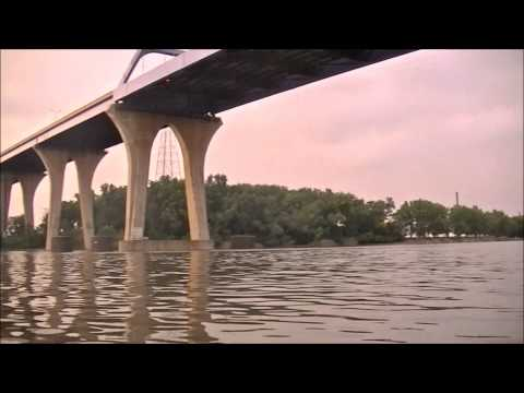 Crazy Man Jumps off Tower Drive Bridge (Leo Frigo Bridge)