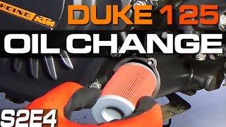 KTM Duke 125 200 390 Oil Change & Filter Change Motul K&N KN-155 Wymiana Oleju i Filtra S02E04