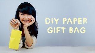 Hướng dấn làm túi quà xinh bằng giấy