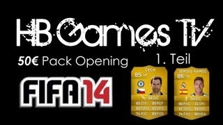 FIFA 14 Ultimate Team #4 - 50€ Pack Opening (Part 1) (Facecam) [deutsch] - HB Games TV Thumbnail