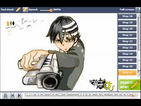 How To Draw Death The Kid From Soul Eater Youtube