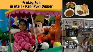 Friday fun in Mall & Pani Puri Dinner - Friday evening to Dinner Vlog - Pani for Pani Puri Recipe