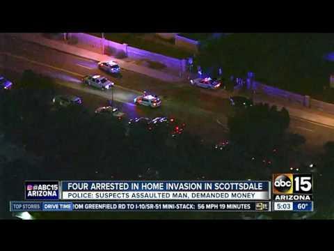 Scottsdale PD: 4 armed men break into apartment, assault resident and demand money