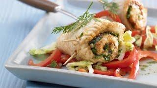 Рыбные рулетики. Рыба с овощами на сковороде.