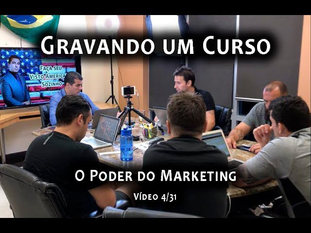 "Gravando um Curso: Vídeo 4/31 Série ""O Poder do Marketing"""