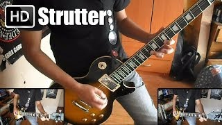 KISS - Strutter guitar cover with solo (Instrumental) HD