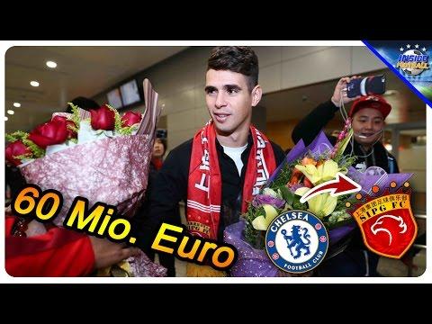 Winter-Transferrekord: 60 Mio. Euro für Oscar-Wechsel nach Shanghai // Inside Football 6.1.17