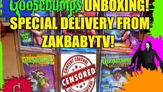 Goosebumps Unboxing! Special Delivery From ZakBabyTV!