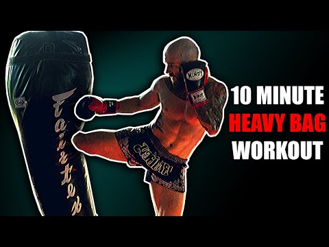 10 Minute Heavy Bag Workout For Muay Thai