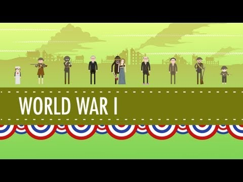 America in World War I: Crash Course US History #30: You can directly support Crash Course at https://www.patreon.com/crashcourse Subscribe for as little as $0 to keep up with everything we're doing. Free is nice, but if you can afford to pay a little every month, it really helps us to continue producing this content.  In which John Green teaches you about American involvement in World War I, which at the time was called the Great War. They didn't know there was going to be a second one, though they probably should have guessed, 'cause this one didn't wrap up very neatly. So, the United States stayed out of World War I at first, because Americans were in an isolationist mood in the early 20th century. That didn't last though, as the affronts piled up and drew the US into the war. Spoiler alert: the Lusitania was sunk two years before we joined the war, so that wasn't the sole cause for our jumping in. It was part of it though, as was the Zimmerman telegram, unrestricted submarine warfare, and our affinity for the Brits. You'll learn the war's effects on the home front, some of Woodrow Wilson's XIV Points, and just how the war ended up expanding the power of the government in Americans' lives.  Subbable message!!!: Jared Richardson says,