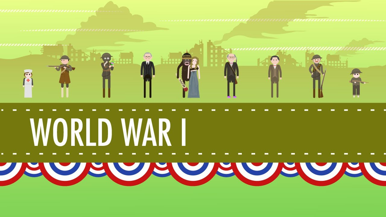 hight resolution of America in World War I: Crash Course US History #30 - YouTube