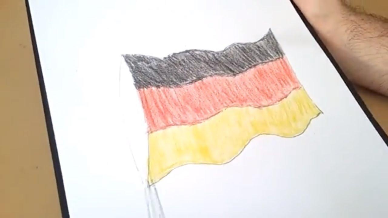 Almanya Bayraği çizimi Germany Flag Drawing Youtube