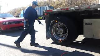 How to inflate a big Rig tire Mexican style