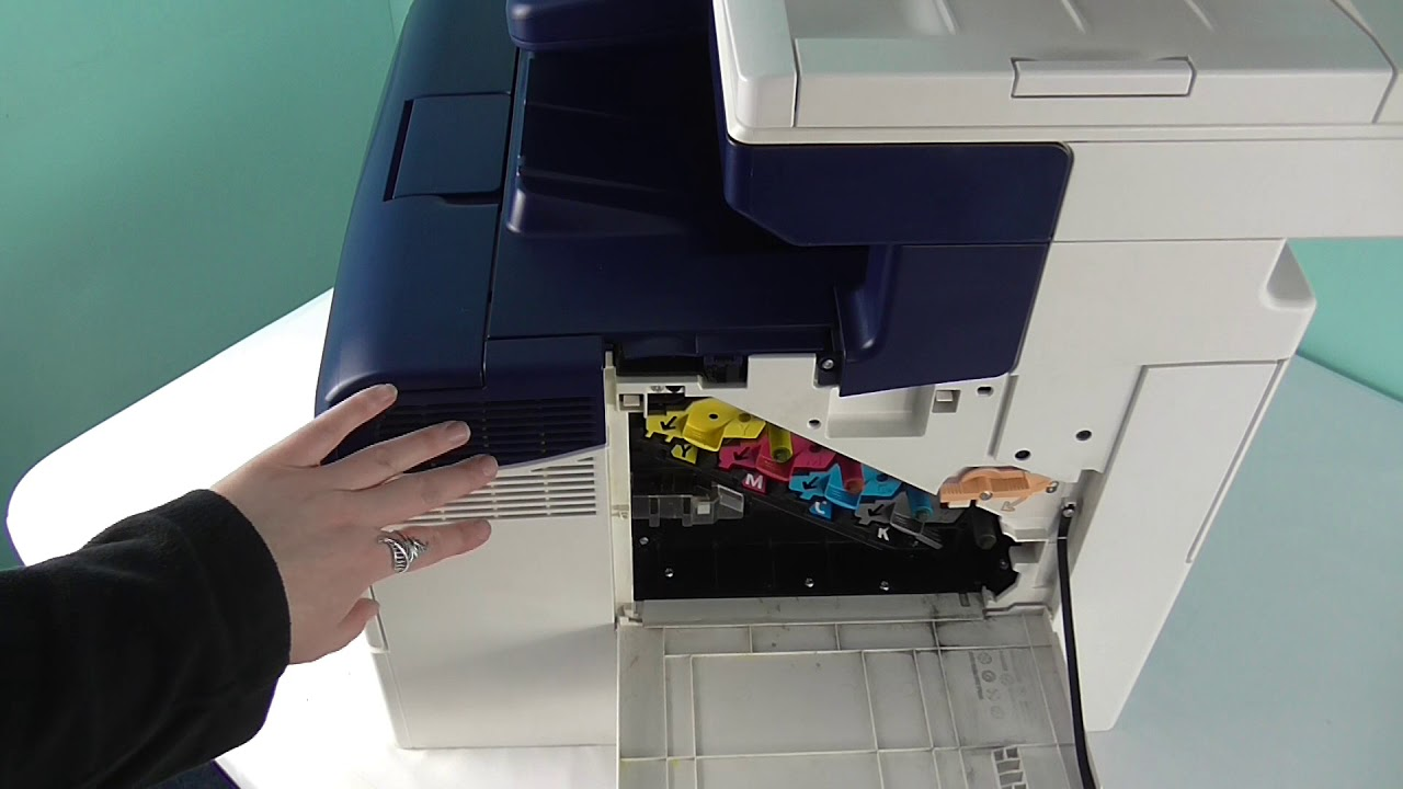 How to change a transfer belt in a Xerox WorkCentre Printer