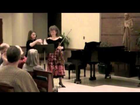 Marta Szlubowska and Julia Kirk (mother-daughter duo), Duo Vivace, performing Bartok Duets