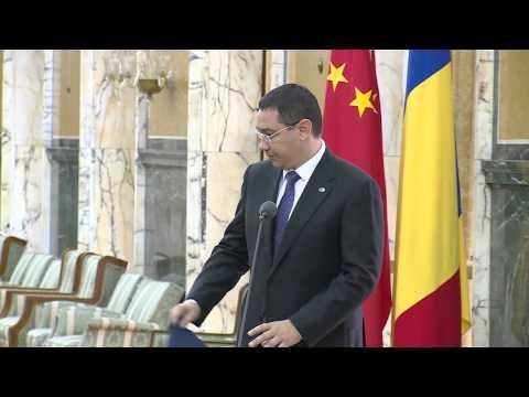 Premierul Victor Ponta a participat la semnarea între Complexul Energetic Oltenia și China Huadian