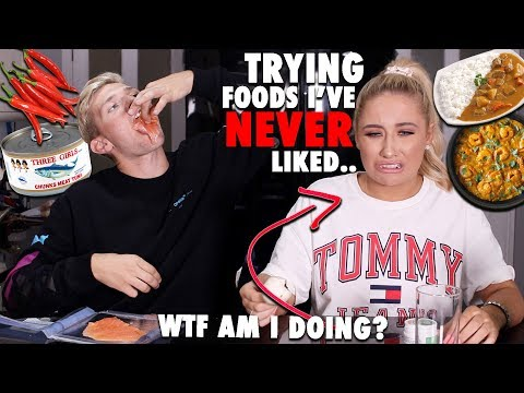Trying foods ive NEVER liked!!!!😭😱 ft my BROTHER!! 😂