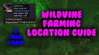5 Minute WoW Gold farm - Wildvine farming 1k+ each