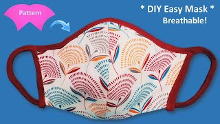 New Breathable Easy Face Mask DIY Very Easy Face Mask Sewing Tutorial at Home Cloth Mask Pattern
