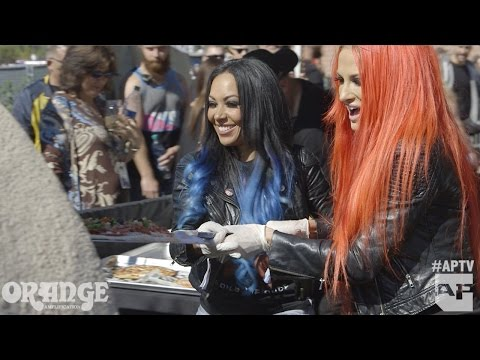 Butcher Babies create their own pizza!
