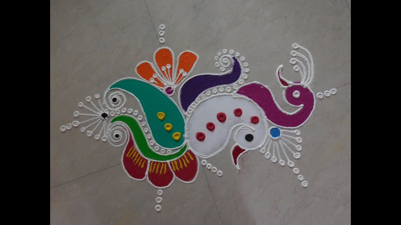 Freehand Rangoli New Design