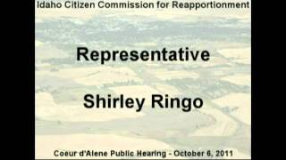 Rep. Shirley Ringo, Cd