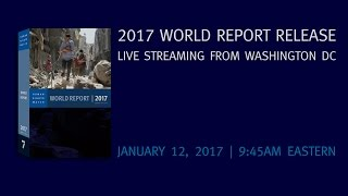 Kenneth Roth, Executive Director of Human Rights Watch – Live Press Conference