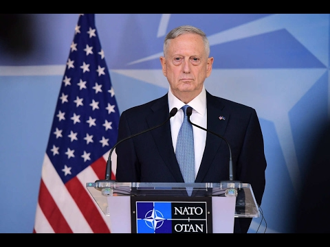 NATO Secretary General and Defense Secretary James Mattis Mad Dog in Brussels Opening Remarks