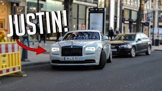 YouTuber JUSTIN im Rolls-Royce Wraith - Supercars Düsseldorf 2021 49 - 300SL, Ferrari SF90  More