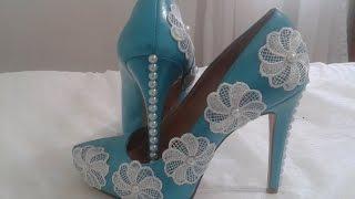Customizando sapato e transformando o usado em novo