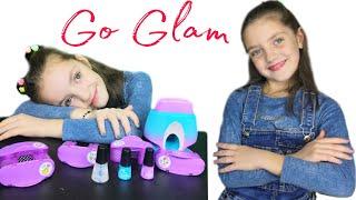 Соня и Марианна делают маникюр бьюти набором GO GLAM распаковка девчачих штучек Cool Maker