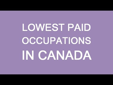 Lowest paid jobs in Canada. What to prepare for. LP Group