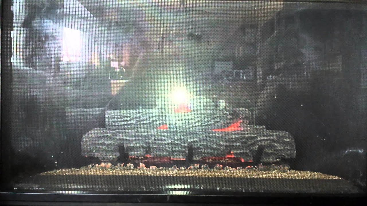 2014 gas fireplace crackling