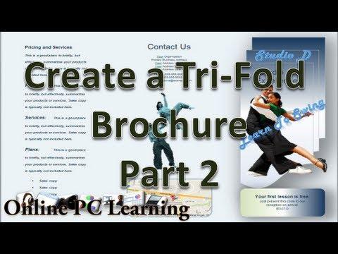 brochure on microsoft word 2010