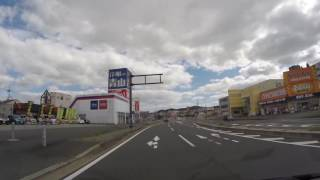 【丹波ドライブ】MEGAドン・キホーテ福知山店前→下篠尾交差点 60fps