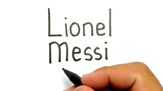 VERY EASY, how to turn words LIONEL MESSI into football player messi get Ballon D'or 2019