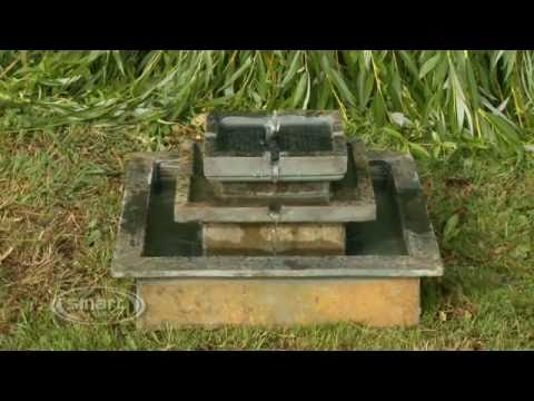 Solar Water Feature - Slate Stepped Fountain