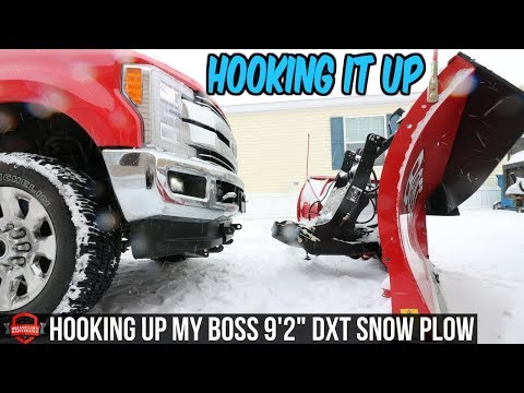 How To Hook Up A Snow Plow - Connecting My BOSS DXT Snow Plow To My Truck
