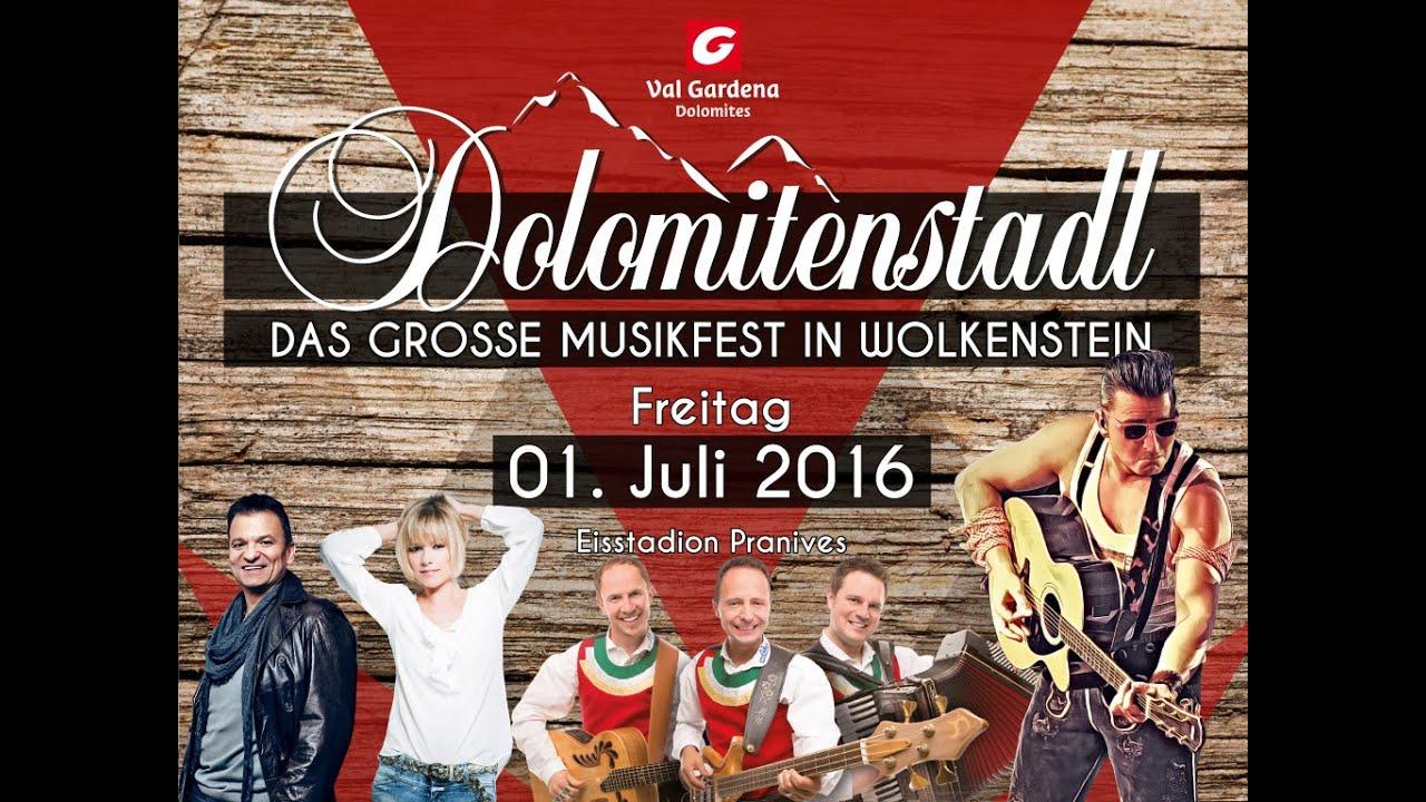 Dolomitenstadl 2016 das große musikfest in wolkenstein (südtirol) mit andreas gabalier