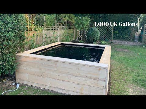 DIY Raised Backyard Garden Pond Build | 1,000 Gallon | Timelapse