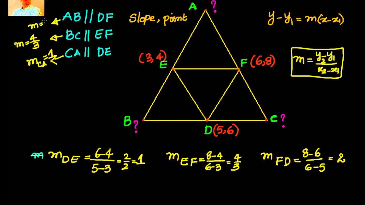 Equations Of Sides Of A Triangle Given Midpoints Of The Vertices