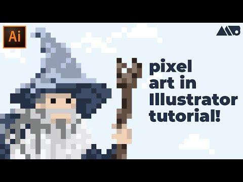 How to Make Pixel Art in Adobe Illustrator Tutorial