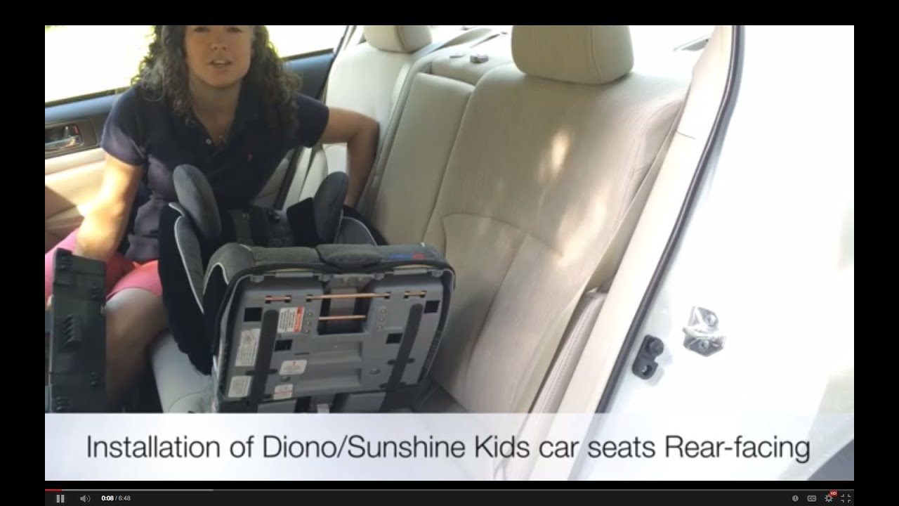How To Install A Diono Car Seat Rear Facing LATCH Tether