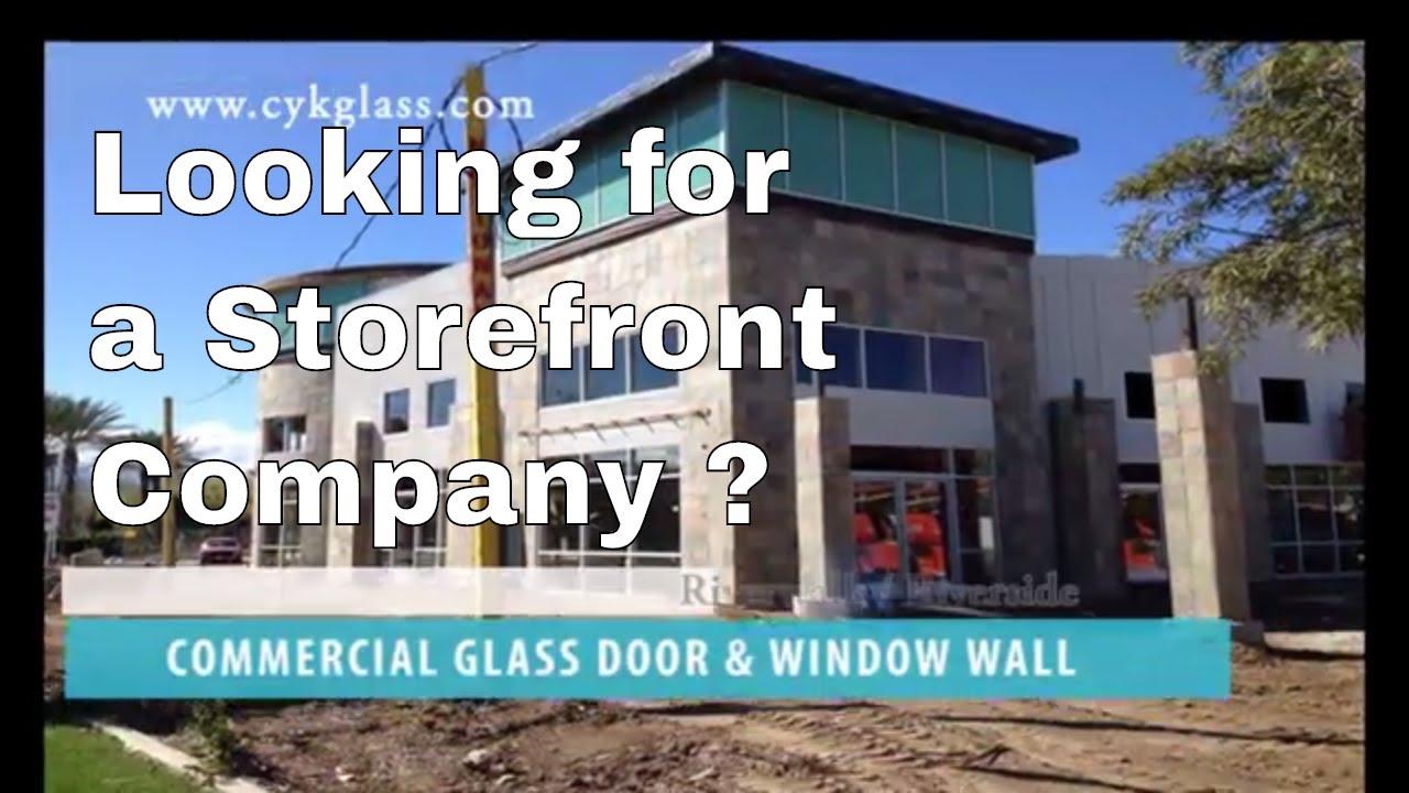 Storefront Automatic Door Glass Door Window Installation Company