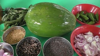 village style papaya poriyal in tamil / Cooking poriyal / Cooking By Village food Recipes